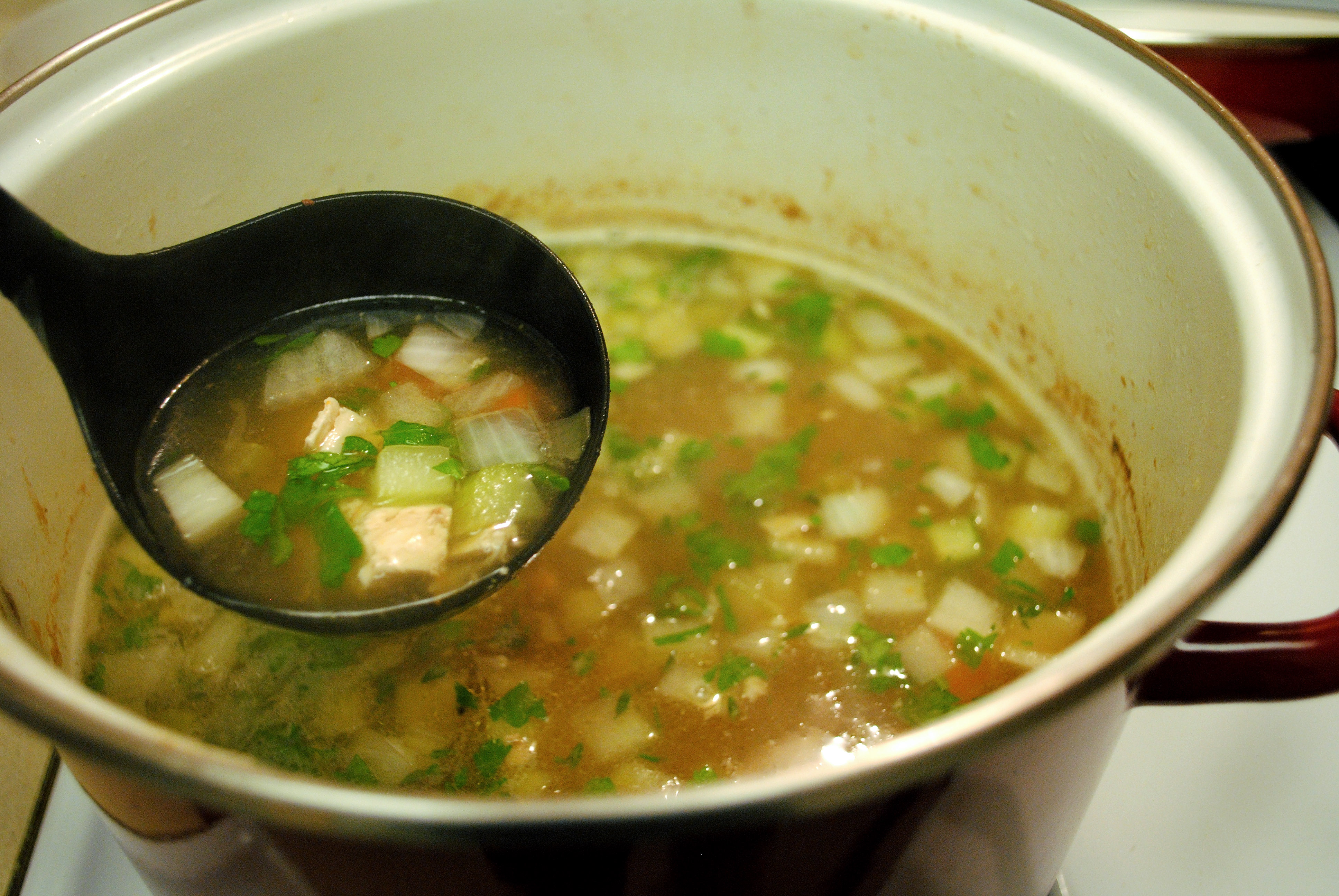 Soup from chicken breasts