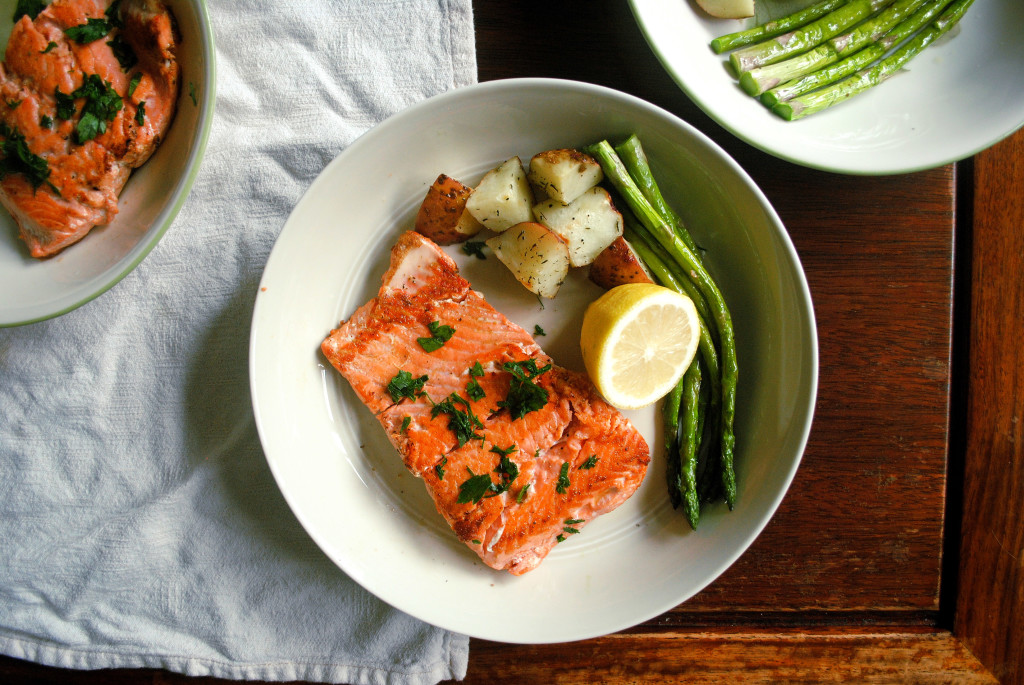 Salmon and Plates