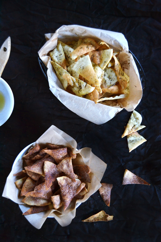 sweet savory pita chips