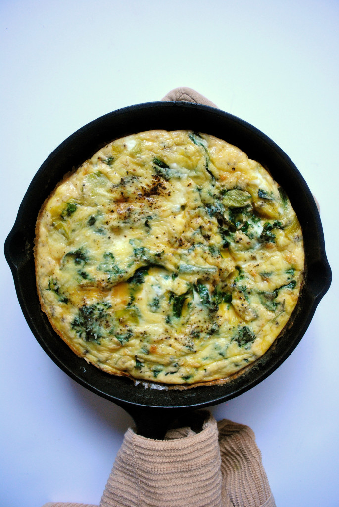 how to make a veggie frittata