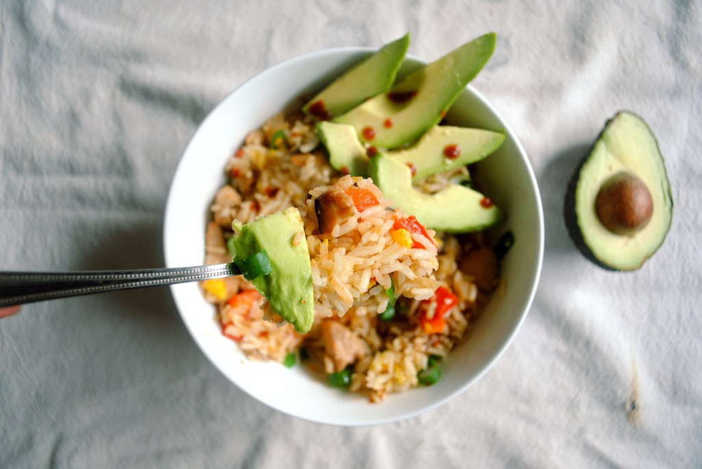 Chicken Fried Rice Spoonful