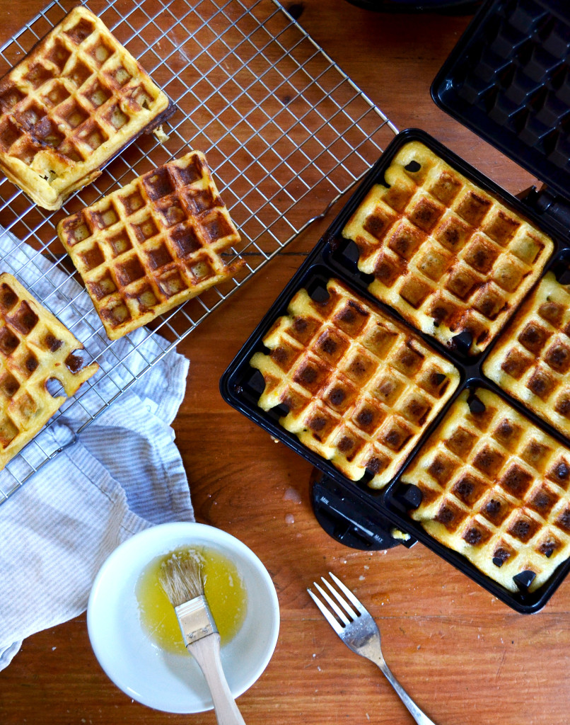 crispy orange waffles
