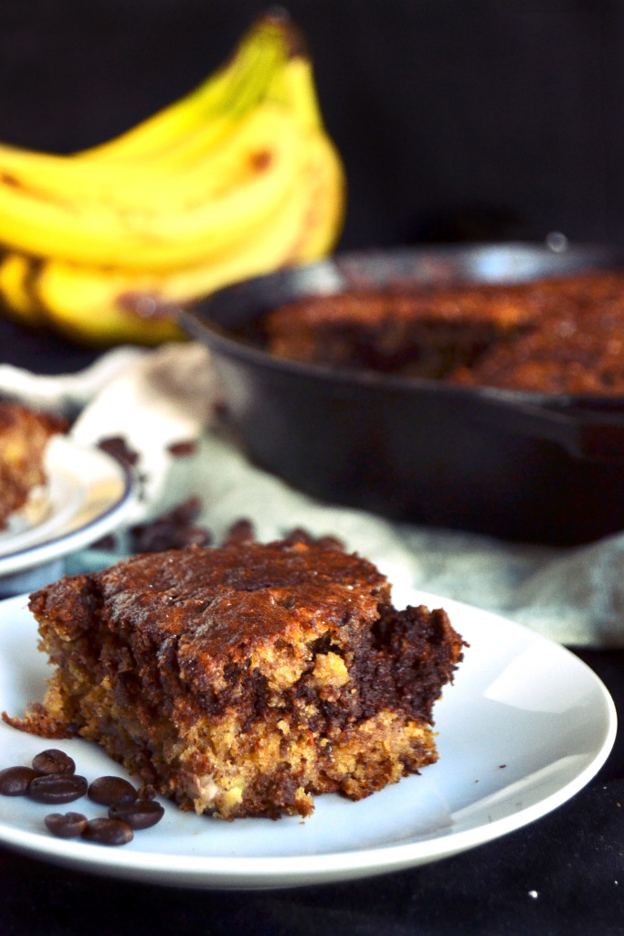 skillet espresso chocolate banana bread