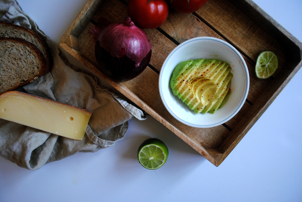 Guac Grilled Cheese Mise