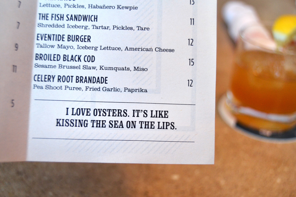 eventide kissing oysters