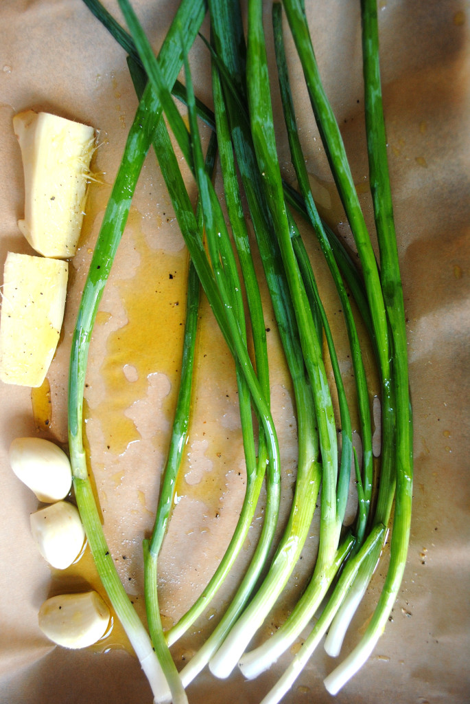 Scallions on Pan