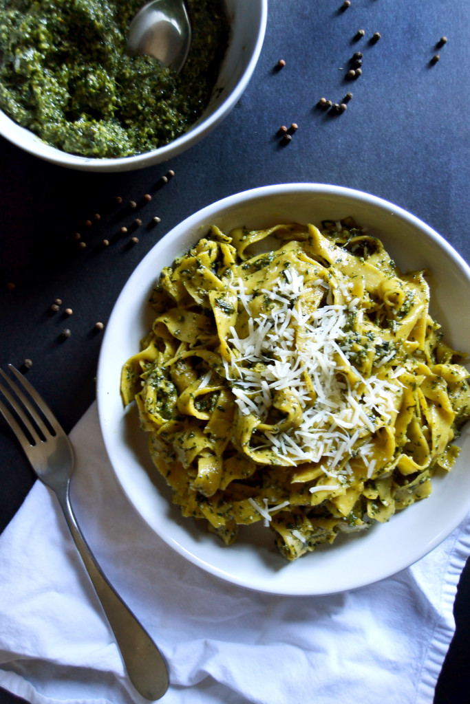 Carrot Pasta and Pesto