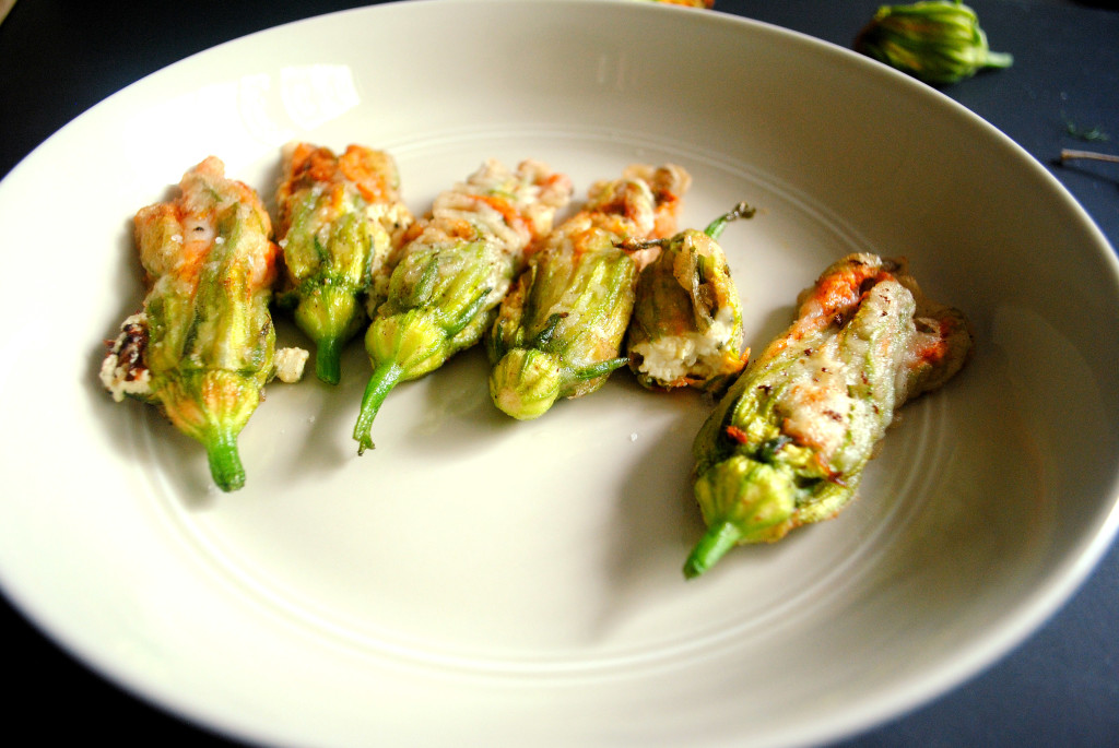 Cheesy Squash Blossoms