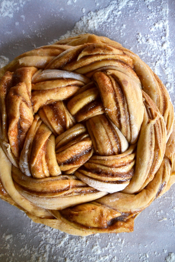 Shaped Sweet Potato Challah Braid