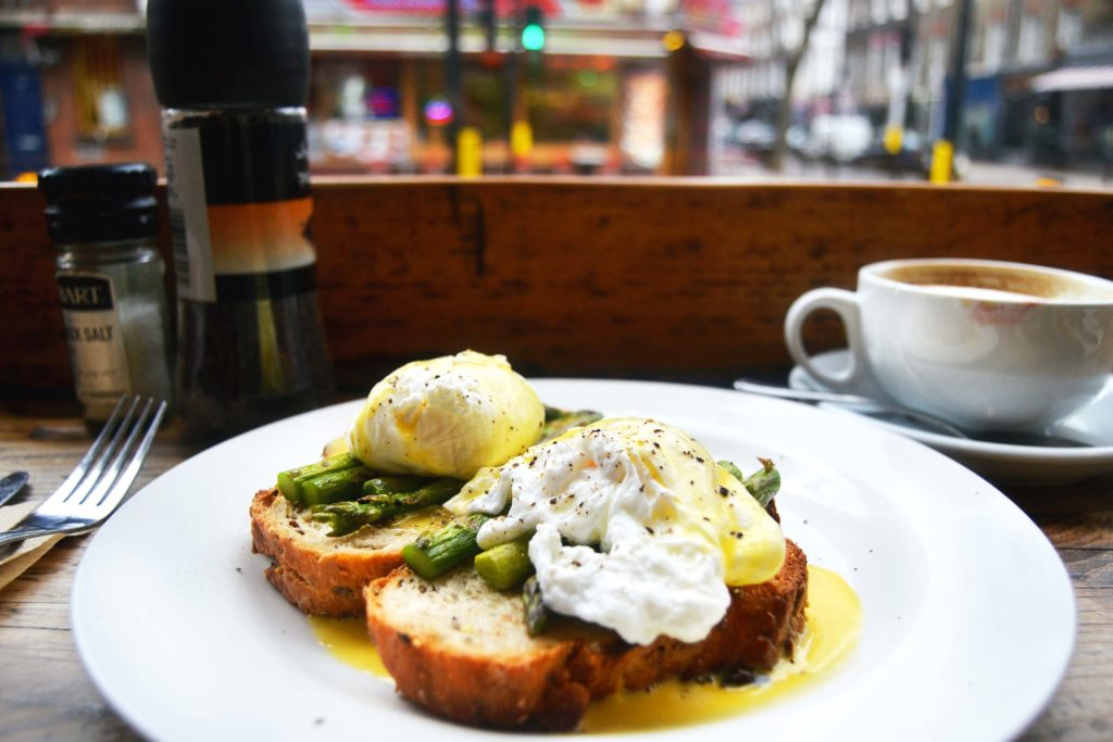 Asparagus Eggs Benedict Moreish Cafe London