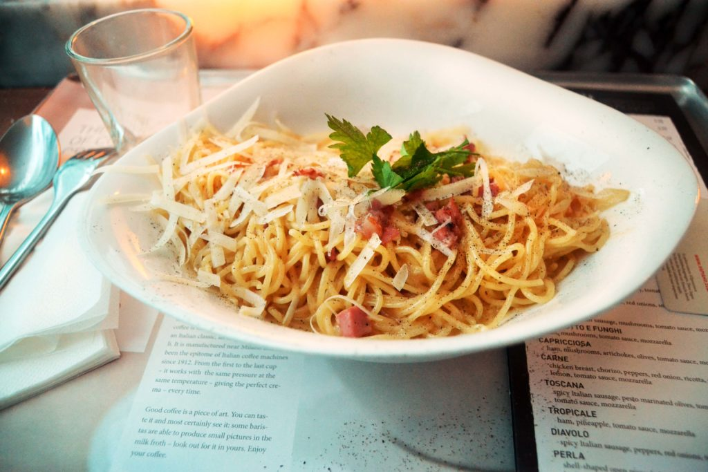 Pasta Carbonara at Vapiano London