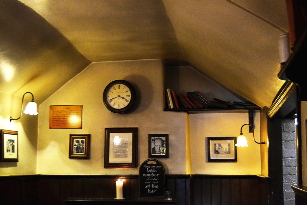 Inside Eagle and Child Pub
