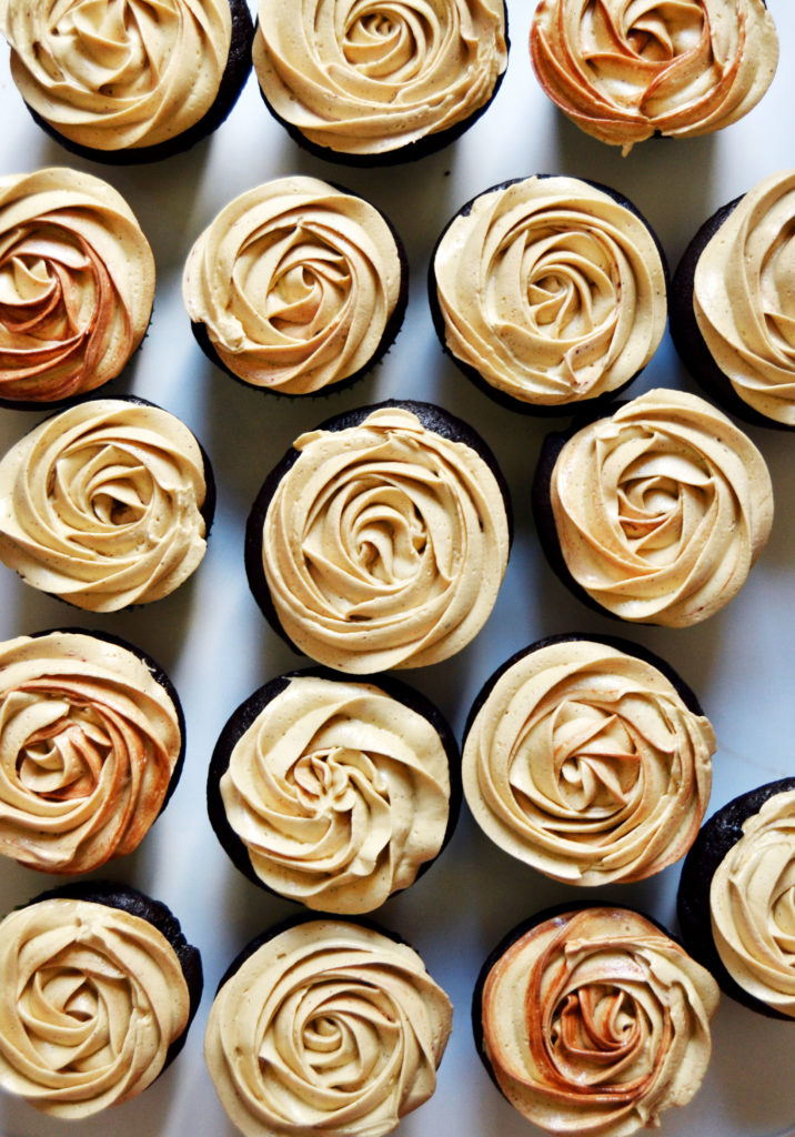 Coffee Buttercream Roses