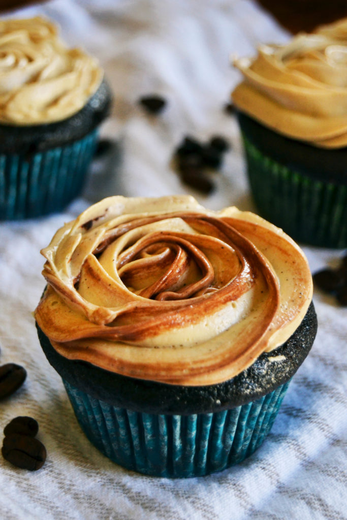 Chocolate cupcake with mocha buttercream frosting