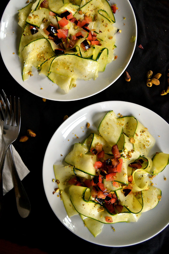 zucchini plum salad servings